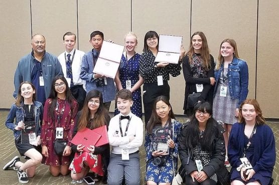 Castaic Students at Student Television Network Convention