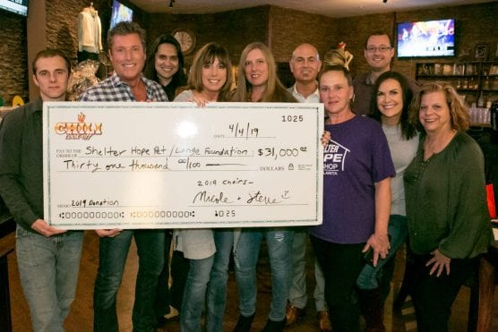 Members of Shelter Hope Pet Shop and Lange Foundation's St. Bonnie's Sanctuary receive a $31,000 check, which came from this year's Santa Clarita Valley Charity Chili Cook-Off. | Courtesy photo.