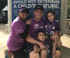 Jaime Alamillo and his family, his primary support group as a cancer survivor. Courtesy photo;