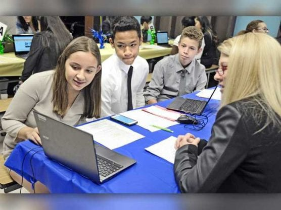 Several students at Castaic Middle School got a chance to participate in Portfolio Day Wednesday, May 25, 2016. | Signal file photo: Dan Watson/The Signal.