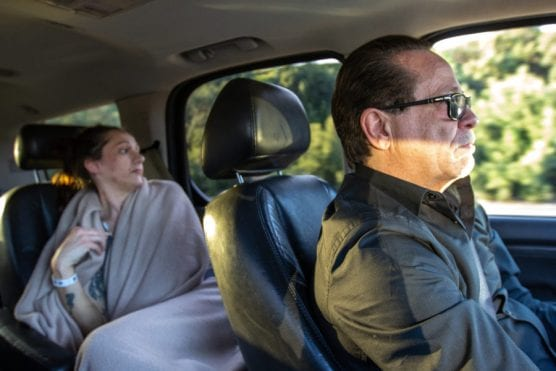 Cary Quashen (right) drives Nicole Norwood to rehab from the hospital.   Signal Photo: Austin Dave.
