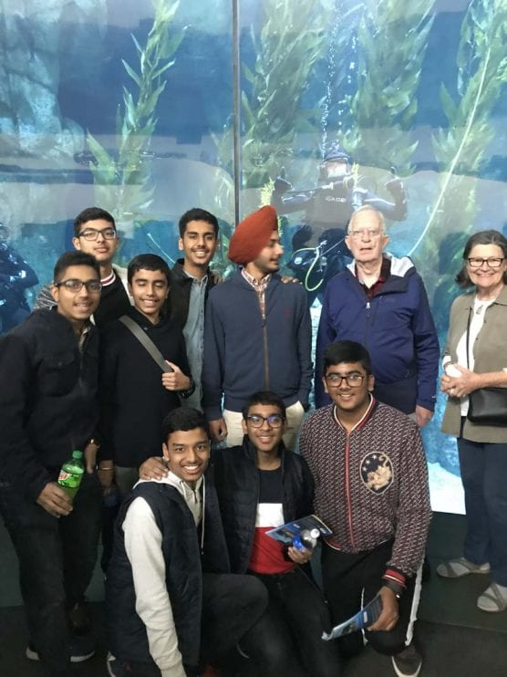Carl Boyer accompanied students from Pinegrove School on a day trip to the Aquarium of rthe Pacific in Long Beach on Jan. 8, 2019.