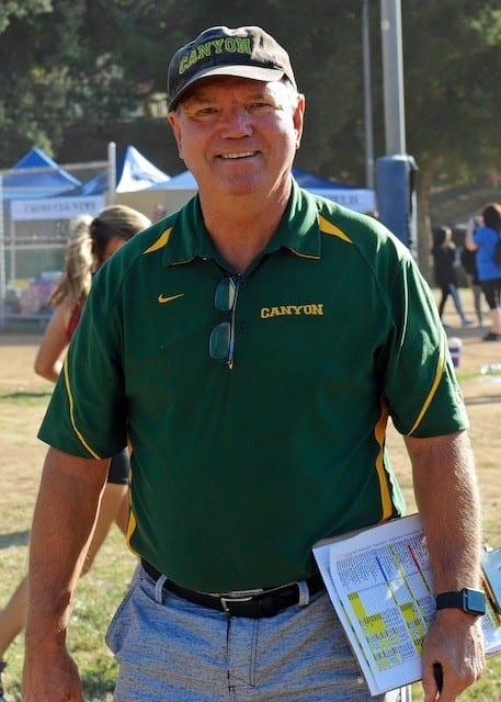 Paul Broneer helped lead the Canyon Cowboys to 43 Foothill League titles in cross-country and track and field. Photo courtesy of Paul Broneer.