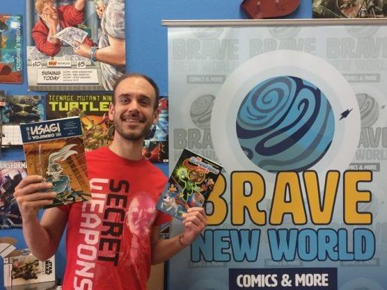 "Brave New World Comics owner Andy Liegl will host comic book writer Shae Fontana and colorist Monica Kubina for a signing of ""DC Super Hero Girls"" and artist Chris Johnson for a signing of ""Usagi Yojimbo."" Photo: Matt Fernandez/The Signal."
