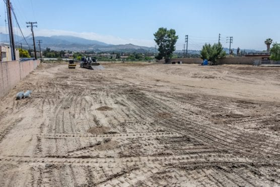 A dirt lot is all that remains of the Soledad Trailer Lodge mobile home park in Canyon Country. | Photo: Cory Rubin/The Signal.
