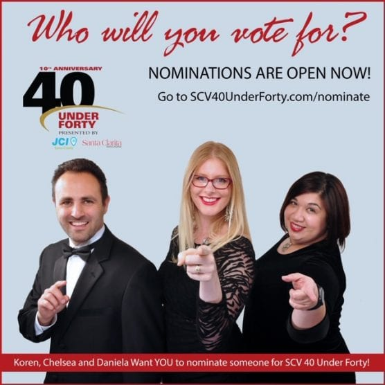 Pictured are SCV's 40 Under Forty 2019 co-chairs (left to right) Koren Young, Chelsea Orzechowski and Daniela Echaiz.