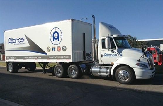 Alliance School of Trucking truck - waggoner