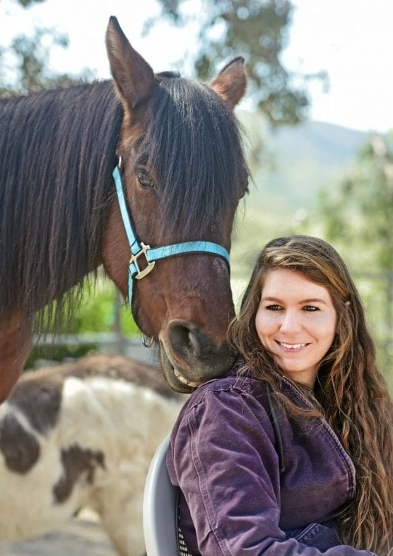 """Blue Star Ranch Therapy Horse Mariah and BSR graduate Ashley share the good news: """"We're moving to a new home!"""""""