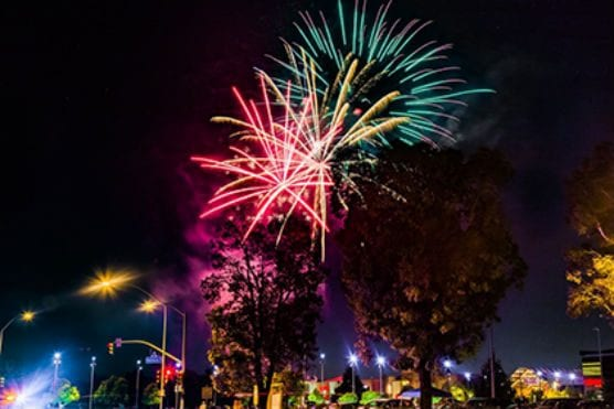 city of Santa Clarita Fireworks