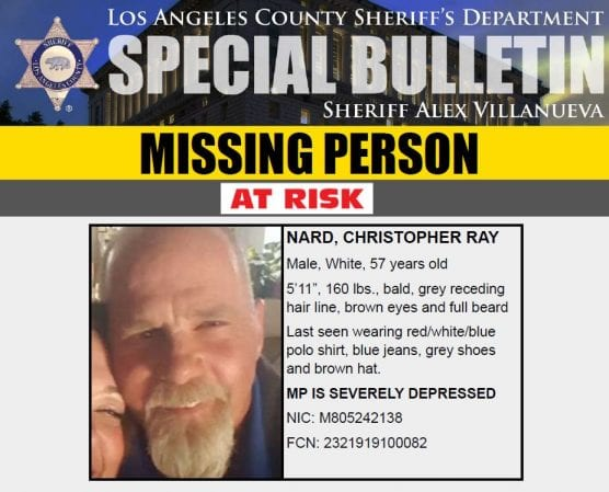 missing person christopher ray nard