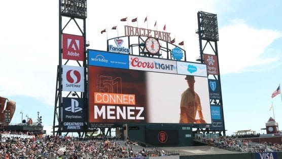 Connor Menez makes MLB debut