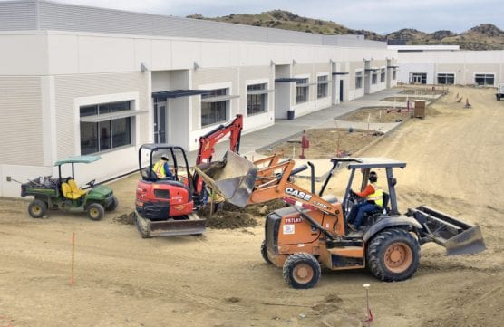 Construction continues near the 400 building of classrooms at Castaic High School on Friday.   Photo: Dan Watson/The Signal. jobs