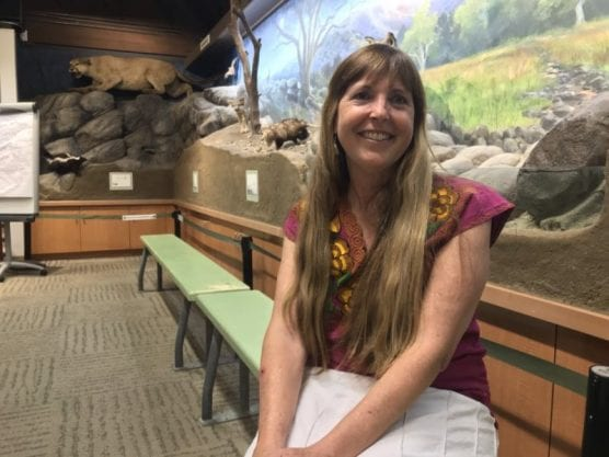 Nature Center Associates board member and Placerita Canyon Nature Center volunteer docent Nikki Dail spoke with Santa Clarita Valley residents Sunday about her travels through Belize late last year. | Photo: Ryan Mancini/The Signal.