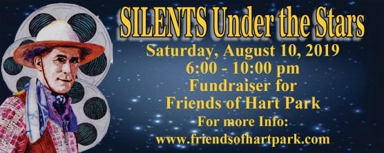 Friends of Hart Park 'Silents Under the Stars' screening and fundraiser Aug. 10, 2019.