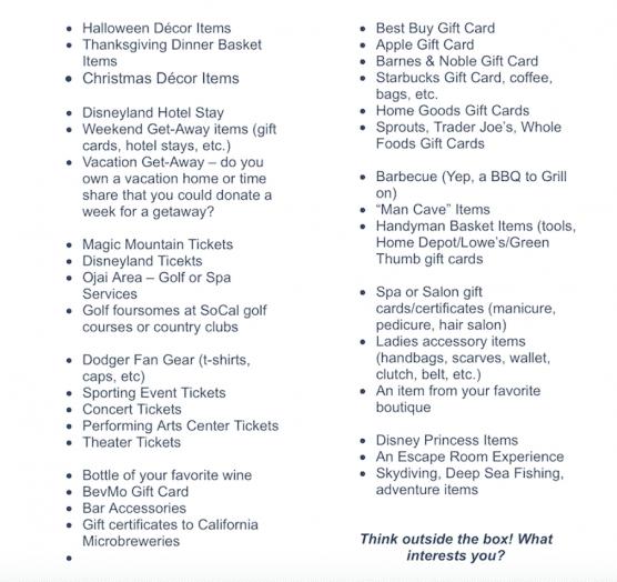 Michael Hoefflin Foundation Donation List