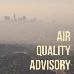 wednesday air quality advisory