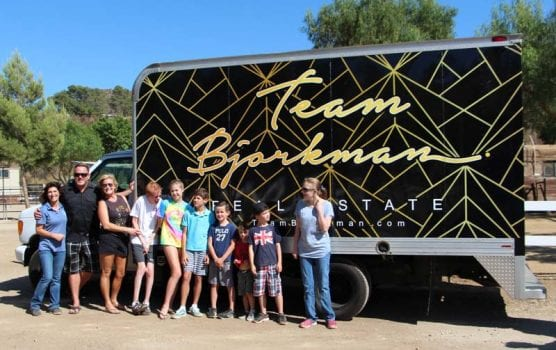 team bjorkman donates truck to carousel ranch