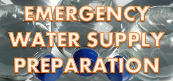 emergency water supply preparation