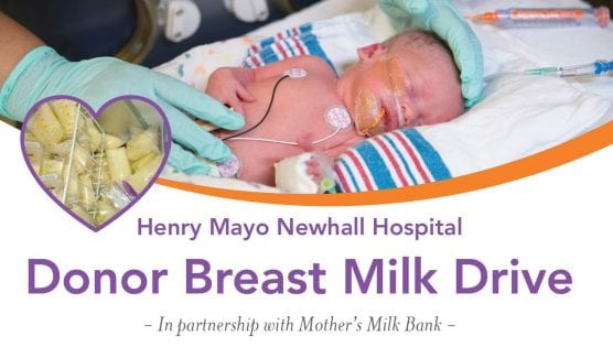 donor breast milk drive at henry mayo