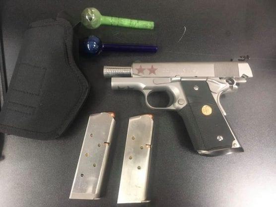 castaic traffic stop arrest gun ammo narcotics paraphernalia