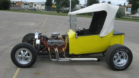 T-bucket custom hot rod, similar to the one that crashed in Acton Friday.   Photo: Trekphiler/Wikimedia Commons 3.0.