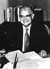 Dr. Robert C. Rockwell, first superintendent of the Santa Clarita Valley Junior College District.