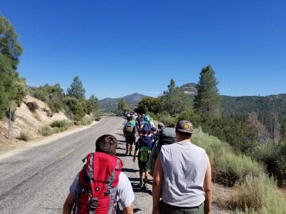 boy scout troop 2222 on a hike
