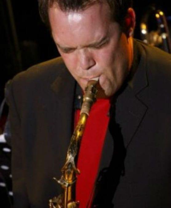 Kevin Garron plays sax