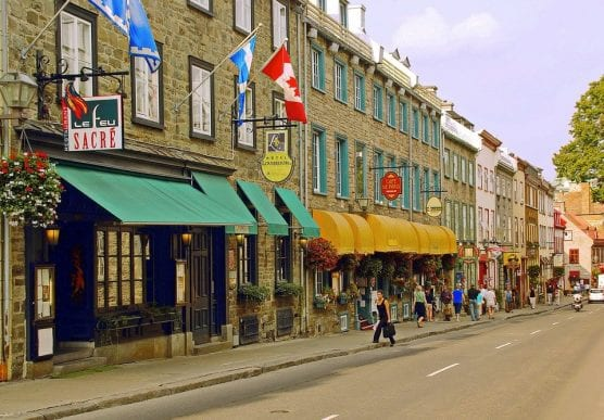 Lower Town, Quebec City, Canada.