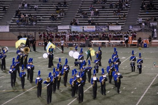 sounds of the stadium - saugus band and color guard