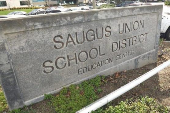 distinguished schools - Saugus Union School District monument sign