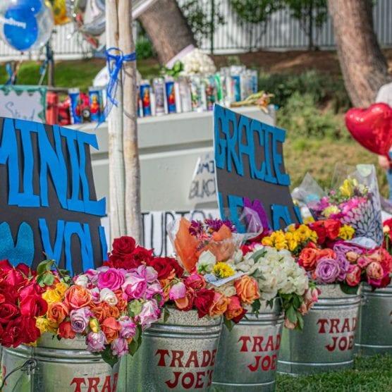 Saugus High memorial/flowers