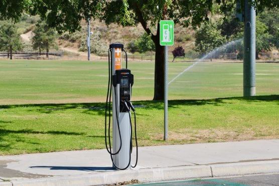 one of santa clarita's electric vehicle charging stations