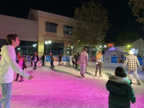 Santa Clarita residents skated at the Westfield Town Center Ice Rink Friday night in support of Saugus High School. | Photo: Vivianna Shields / The Signal.