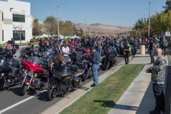 Hundreds of motorcycle riders rode from Glendale to Santa Clarita to participate in the 33rd Love Ride, hosted by Harley Davidson store of Santa Clarita and Glendale, Sunday, Nov. 10, 2019. | Photo: Gilbert Bernal / The Signal.