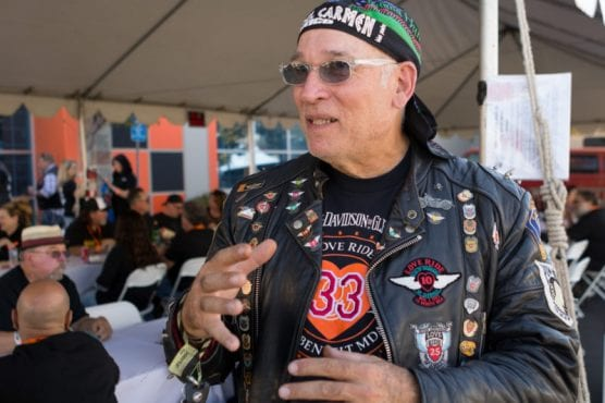 """Crazy Dave"" Mendelsohn, of Burbank, attends LoveRide for his 33rd time at the Harley Davidson of Santa Clarita, Sunday, Nov. 10, 2019. 