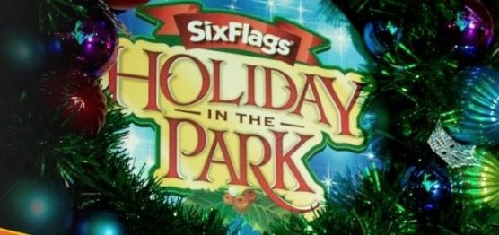 holiday food drive and holiday in the park - six flags magic mountain