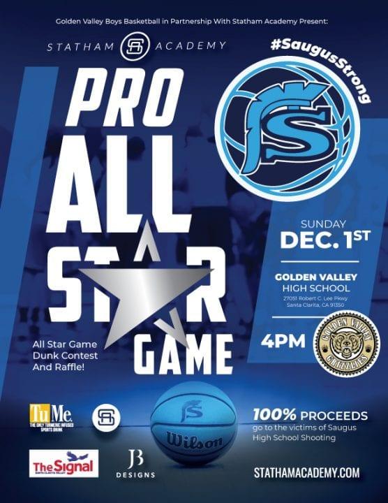 statham academy all-star basketball fundraiser for saugus high