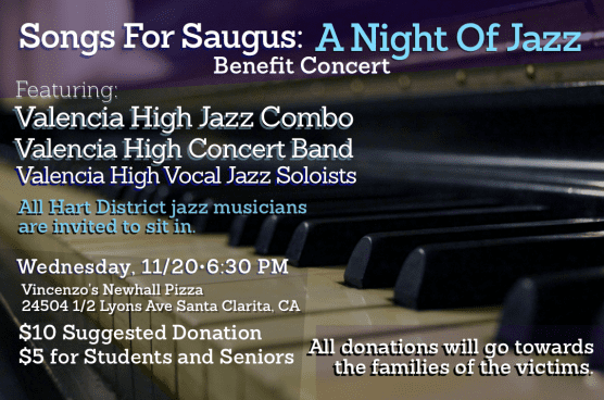 Valencia High School Jazz 'Songs for Saugus' benefit