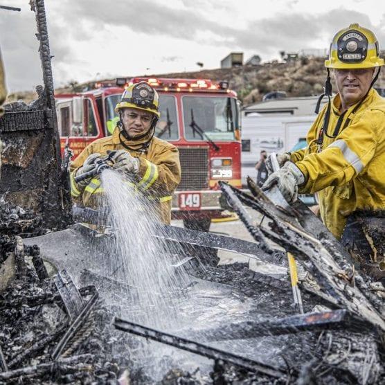 Castaic RV Fire