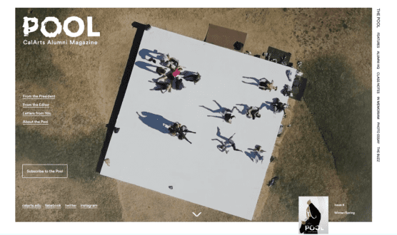 """""""The Pool"""" online features expanded content, including videos and photos from interviews and performance."""