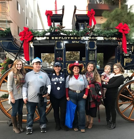 The Express Employment Professionals team at the 2017 Hollywood Christmas Parade. | Courtesy photo.