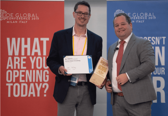 James Glapa-Grossklag received the President's Award for Excellence at the 2019 Open Education Global Conference. | Courtesy photo.