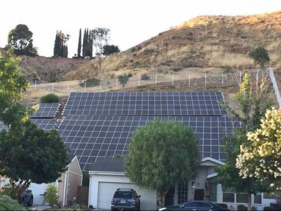 Solar panels have been installed on the hills of Canyon View Estates. | Photo: Courtesy of Geri Brown.