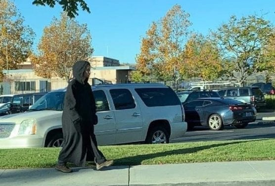 A person dressed all in black sparked a lockdown at school and an arrest Monday morning. Courtesy photo.