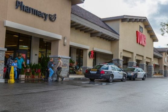 LASD deputies responded to an alleged attempted theft by suspects who were confronted by the store manager, who was able to recover the merchandise, Sunday, Dec. 8, 2019. | Photo: Gilbert Bernal / The Signal.
