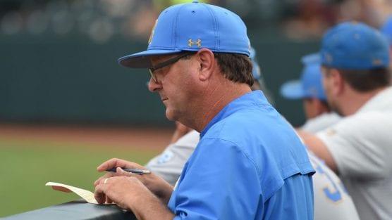 UCLA's John Savage, 2019 Pitching Coach of the Year.   Photo: Greg Turk.