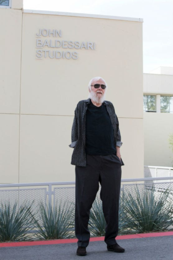 A founding member of CalArts faculty, John Baldessari died on Jan. 2, 2020. Here is a photo of the artist in 2015, at the dedication of the John Baldessari Studios at CalArts.
