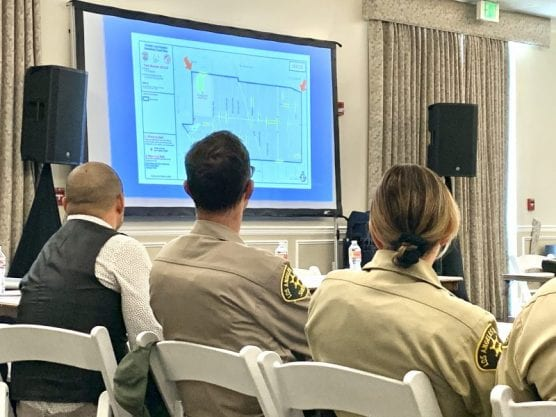 Homeless task force members receive training ahead of the 2020 homeless count on Jan. 21. | Photo: Tammy Murga / The Signal.