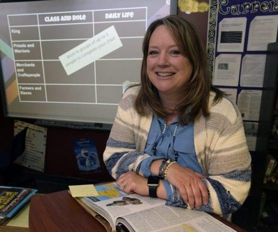 Castaic Union School District Teacher of the Year Karla de Lemos at Castaic Middle School.   Photo: Dan Watson / The Signal.